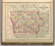 A New Map of the State of Iowa. Published By Charles Desilver, No. 714 Chestnut Street, Philadelphia. Entered according to Act of Congress in the year 1856 by Charles Desilver in the Clerk's office if the District Court of the Eastern District of Pennsylvania. 35.