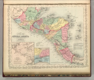 A New Map of Central America. By J.L. Hazzard. Published By Charles Desilver, 714 Chesnut Street, Philadelphia. Entered according to Act of Congress in the year 1856 by Charles Desilver in the Clerk's office if the District Court of the Eastern District of Pennsylvania. 40.