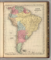 South America. Entered according to Act of Congress in the year 1856 by Charles Desilver in the Clerk's office if the District Court of the Eastern District of Pennsylvania. 42.