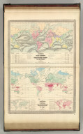 Johnson's Ocean Currents and the Great River Basins of The World by Prof. A. Guyot. Published by A. J. Johnson, New York. Johnson's World, Showing the Distribution of the Temperature of the Air, By Prof. A. Guyot. Published by A. J. Johnson, New York. 9. 10. Entered according to the Act of Congress, in the year 1870, by A.J. Johnson in the Clerk's Office of the District Court of the United States for the Southern District of New York.