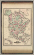 Johnson's North America. Published by A. J. Johnson, New York. 20. 21. Entered according to the Act of Congress, in the year 1867, by A.J. Johnson in the Clerk's Office of the District Court of the United States for the Southern District of New York.
