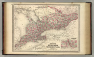 Johnson's Ontario of the Dominion of Canada. Published by A. J. Johnson, New York. 22. 23. Entered according to the Act of Congress, in the year 1867, by A.J. Johnson in the Clerk's Office of the District Court of the United States for the Southern District of New York.