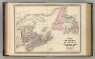 Johnson's New Brunswick and Nova Scotia of the Dominion of Canada, also Newfoundland, Prince Edward and Cape Breton Is. Published by A. J. Johnson, New York. 26. 27. Entered according to the Act of Congress, in the year 1867, by A.J. Johnson in the Clerk's Office of the District Court of the United States for the Southern District of New York.