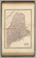 Johnson's Maine. Published by A. J. Johnson, New York. 30. 31. Entered according to the Act of Congress, in the year 1866, by A.J. Johnson in the Clerk's Office of the District Court of the United States for the Southern District of New York.