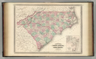 Johnson's North Carolina and South Carolina. Published by A. J. Johnson, New York. 51. 52. Entered according to the Act of Congress, in the year 1865, by A.J. Johnson in the Clerk's Office of the District Court of the United States for the Southern District of New York.