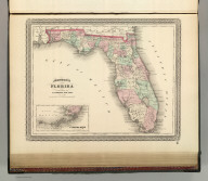 Johnson's Florida. Published by A. J. Johnson, New York. 55. Entered according to the Act of Congress, in the year 1863, by A.J. Johnson in the Clerk's Office of the District Court of the United States for the Southern District of New York.