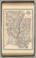 Johnson's Arkansas, Mississippi, and Louisiana. Published by A. J. Johnson, New York. 56. 57. Entered according to the Act of Congress, in the year 1866, by A.J. Johnson in the Clerk's Office of the District Court of the United States for the Southern District of New York.