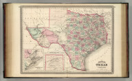 Johnson's Texas. Published by A. J. Johnson, New York. 58. 59. Entered according to the Act of Congress, in the year 1866, by A.J. Johnson in the Clerk's Office of the District Court of the United States for the Southern District of New York.