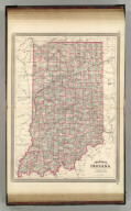 Johnson's Indiana. Published by A. J. Johnson, New York. 64. 65. Entered according to the Act of Congress, in the year 1864, by A.J. Johnson in the Clerk's Office of the District Court of the United States for the Southern District of New York.