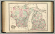 Johnson's Wisconsin and Michigan. Published by A. J. Johnson, New York. 68. 69. Entered according to the Act of Congress, in the year 1864, by A.J. Johnson in the Clerk's Office of the District Court of the United States for the Southern District of New York.