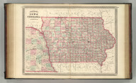 Johnson's Iowa and Nebraska. Published by A. J. Johnson, New York. 72. 73. Entered according to the Act of Congress, in the year 1864, by A.J. Johnson in the Clerk's Office of the District Court of the United States for the Southern District of New York.