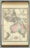 Johnson's Australia and East Indies. Published by A. J. Johnson, New York. 118. 119. Entered according to the Act of Congress, in the year 1867, by A.J. Johnson in the Clerk's Office of the District Court of the United States for the Southern District of New York.