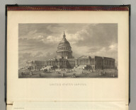 (Frontice to) Johnson's New Illustrated Family Atlas Of The World, Was Awarded The First Prize Medal At The Universal Exposition Of 1867, In Paris, With A Treatise On Physical Geography, By A. Guyot, LL.D. United States Capitol. Engraved upon Steel by C.E. Loven. Entered according to the Act of Congress, in the year 1866, by A.J. Johnson in the Clerk's Office of the District Court of the United States for the Southern District of New York. From a Photograph of the Drawings by T.U. Walter, Architect, Washington, D.C. (1874)