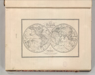 A New Map of the World on the Globular Projection by (name erased). Philadelphia, Published By S. Augustus Mitchell, N.E. corner of Market & 7th Streets. Western Hemisphere. Eastern Hemisphere. 1.