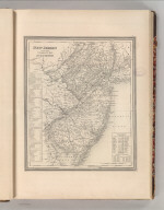 New Jersey Reduced from T. Gordan's Map by H.S. Tanner. Entered according to Act of Congress in the 1834, by T. Gordan - in the Clerk's Office of the District Court of the District Court of New Jersey. 12.
