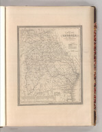 A New Map of Georgia with its Roads & Distances. By H. S. Tanner. Entered according to Act of Congress in the 1839 by H.S. Tanner - in the Clerk's Office of the Eastern District of Pennsylvania. 20.