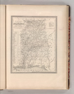 A New Map of Alabama with its Roads & Distances from place to place along Stage and Steam Boat Routes. By H.S. Tanner. Entered according to Act of Congress in the 1841 by H.S. Tanner - in the Clerk's Office of the Eastern District of Pennsylvania. 22.