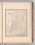 A New Map of Mississippi with its Roads & Distances. By H.S. Tanner. Entered according to Act of Congress in the 1836 by H.S. Tanner - in the Clerk's Office of the Eastern District of Pennsylvania. 23.