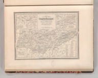 A New Map of Tennessee with its Roads & Distances from place to place along Stage and Steam Boat Routes. By H.S. Tanner. Entered according to Act of Congress in the 1841 by H.S. Tanner - in the Clerk's Office of the Eastern District of Pennsylvania. 26.
