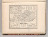 A New Map of Kentucky with its Roads & Distances from place to place along Stage and Steam Boat Routes. By H.S. Tanner. Entered according to Act of Congress in the 1839 by H.S. Tanner - in the Clerk's Office of the Eastern District of Pennsylvania. 27.