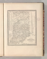 A New Map of Indiana with its Roads & Distances. By H.S. Tanner. Entered according to Act of Congress in the 1841 by H.S. Tanner - in the Clerk's Office of the Eastern District of Pennsylvania. 30.
