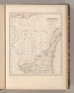 A New Map of Wisconsin with its Roads & Distances. Published by S. Augustus Mitchell, N.E. Corner of Market & 7th. Streets Philadelphia. (1848)