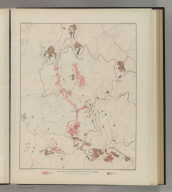 Ore-Bodies and Topography of Mine-Hill, New Almaden. U.S. Geological Survey. Monograph XIII, Atlas Sheet VIII. Compiled by F. Reade 1885. Giles Litho. & Liberty Printing Co. N.Y. Geo. F. Becker, Geologist in charge.