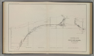 Longitudinal Section of the South Ore Channel. New Almaden Mine. U.S. Geological Survey. Monograph XIII, Atlas Sheet X. Compiled by F. Reade 1885. Giles Litho. & Liberty Printing Co. N.Y. Geo. F. Becker, Geologist in charge.