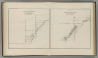 North and South Section , 550 Feet West of Randol Shaft, New Almaden Mine. North and South Section through the Randol Shaft, New Almaden Mine. U.S. Geological Survey. Monograph XIII, Atlas Sheet XI. Compiled by F. Reade 1885. Geo. F. Becker, Geologist in charge.