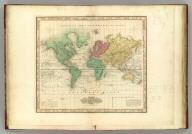 The World on Mercators Projection. Amercian Atlas. Published By Henry S. Tanner, Philada. Engraved by Tanner: Vallance, Kearny & Co. (1833)