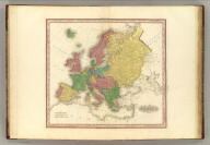 Europe. American Atlas. Engraved & Published By Tanner, Vallance, Kearny & Co., Philadelphia. (1833)