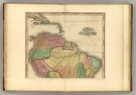 South America (northern half) with improvements to 1823. By H.S. Tanner. American Atlas. Engraved & Published By H.S. Tanner & Co., Philadelphia. (1833)