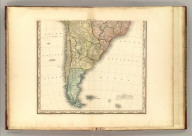 (South America, southern half, with improvements to 1823). American Atlas. Drawn, Engraved & Published By Tanner, Vallance, Kearny & Co., Philadelphia. (1833)