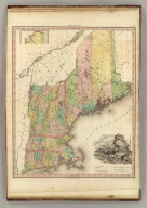 Map of the States of Maine, New Hampshire, Vermont, Massachusetts, Connecticut, & Rhode Island. By H.S. Tanner. American Atlas. Engraved and Published by H.S. Tanner, Philadelphia. Entered according to Act of Congress, 14th Day of Novr. 1820, by H.S. Tanner, of the State of Pennsylvania.
