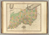 Ohio and Indiana. By H.S. Tanner. American Atlas. Engraved and Published by H.S. Tanner, Philadelphia. Entered according to Act of Congress, 24th Day of May, 1819, by Tanner, Vallance, Kearny & Co., of the State of Pennsylvania.