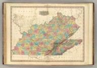 Kentucky and Tennessee. By H.S. Tanner. 1827. American Atlas. Engraved and Published by H.S. Tanner, Philadelphia. Entered according to Act of Congress, 20th Day of August, 1823, by H.S. Tanner, of the State of Pennsylvania.