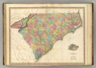 Map of North & South Carolina. By H.S. Tanner. 1827. American Atlas. Published by H.S. Tanner, Philadelphia. Entered according to Act of Congress, 20th Day of August, 1823, by H.S. Tanner, of the State of Pennsylvania.