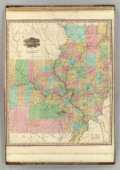 Illinois and Missouri. 1833. American Atlas. Published by H.S. Tanner, Philadelphia. Entered according to Act of Congress, in the year 1833, by H.S. Tanner, in the Clerks Office of the Eastern District of Pennsylvania. Engraved by H.S. Tanner & Assistants.