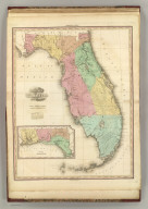 Map of Florida. By H.S. Tanner. American Atlas. Published by H.S. Tanner, Philadelphia. Entered according to Act of Congress, ithe 20th Day of August, 1823, by H.S. Tanner, of the State of Pennsylvania. Engraved by H.S. Tanner & Assistants.
