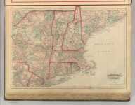 Asher & Adams' New Hampshire, Vermont, Massachusetts, Rhode Island, and Connecticut. Entered according to Act of Congress 1874 by Asher & Adams in the Office of the Librarian of Congress at Washington.