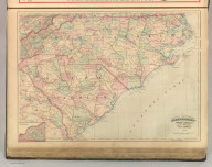 Asher & Adams' North Carolina and South Carolina. Entered according to Act of Congress 1874 by Asher & Adams in the Office of the Librarian of Congress at Washington.