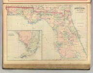 Asher & Adams' Florida. Entered according to Act of Congress 1874 by Asher & Adams in the Office of the Librarian of Congress at Washington.