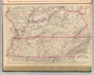 Asher & Adams' Kentucky & Tennessee. Entered according to Act of Congress 1874 by Asher & Adams in the Office of the Librarian of Congress at Washington.