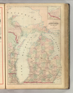 Asher & Adams' Michigan. Entered according to Act of Congress 1874 by Asher & Adams in the Office of the Librarian of Congress at Washington.