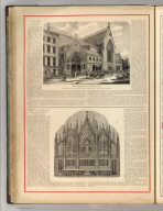 The Brooklyn Tabernacle. Constructed by Manhattan Stone Manufactured by Van Doren Brothers. Description of the Great Organ in the Brooklyn Tablernacle Built by Jardine & Son. (1875)