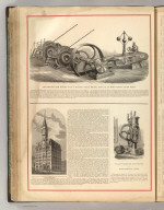 Delamater Iron Works.- View of Reynold's Hoisting Machine, Driven by the Rider Governor Cut-Off Engine. The New Tribune Builiding, New York. Valley Machine Co.'s Pumps, Easthampton, Mass. (1875)