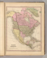 North America. Entered ... 1836 by H.S. Tanner ... Pennsylvania. Philadelphia: Published by Carey & Hart. (above neat line) Tanner's Universal Atlas.