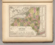 A New Map Of New York with its Canals, Roads & distances from Place to Place along the Stage & Steam-boat Routes. Entered ... 1840 by H.S. Tanner ... Pennsylvania. Published by Carey & Hart, Philadelphia. (above neat line) Tanner's Universal Atlas.
