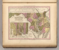 A New Map Of Maryland and Delaware with their Canals, Roads & Distances. by H.S. Tanner. E. Gillingham Sc. (with) Baltimore. Entered according to Act of Congress. Published by Carey & Hart, Philadelphia. (above neat line) Tanner's Universal Atlas.