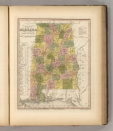 A New Map Of Alabama With Its Roads & Distances from place to place, along the Stage & Steam Boat Routes by H.S. Tanner. Engraved by W. Brose, Philadelphia. Entered ... 1841 by H.S. Tanner ... Pennsylvania. Published by Carey & Hart Philadelphia. (above neat line) Tanner's Universal Atlas.